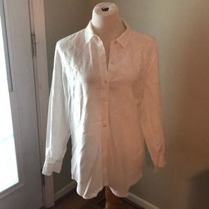 Tommy Bahama white linen blouse